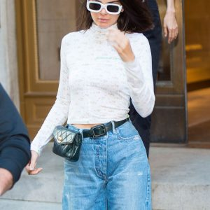 kendall jenner wearing Chanel fanny pack