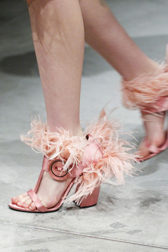 Prada feather heels Fall 2017